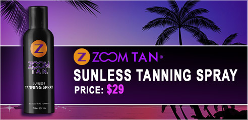 Zoom Tan Sunless Tanning Spray available online